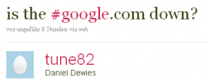 is the #google.com down?