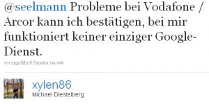 Probleme bei Vodafone/Arcor